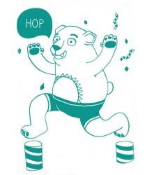 Phospho Poster Bear Omy Phospho Poster Ours Vert