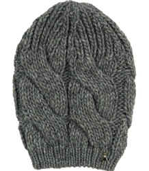Knitted Hat Patrizia Pepe Girls Knitted Hat, dark grey