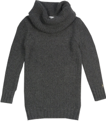 Patrizia Pepe Girls Tunic Knit Patrizia Pepe Girls Col Sweater Knit, dark grey