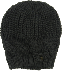 Patrizia Pepe Girls Knitted Hat Patrizia Pepe Girls Knitted Hat black