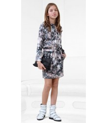 Mars - Printed Silk Dress Little Remix Mars Dress