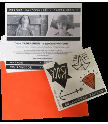 Gift Card Orange Mayonnaise Cadeau Bon