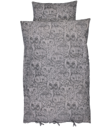 Soft Gallery Bedcover Aop OWL Grey Soft Gallery Bedcover, grey drizzle