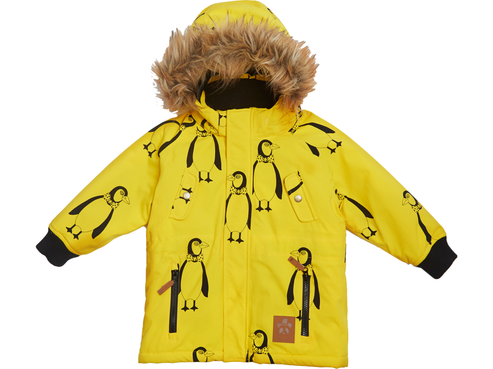 f63be860e Mini Rodini Expedition Siberia AOP Jacket - Orange Mayonnaise