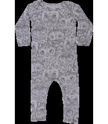Soft Gallery Ben Bodysuit Aop OWL Grey Soft Gallery Ben Body drizzle grey OWL aop