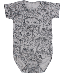 Soft Gallery Anine Romper Aop UIL Grijs Soft Gallery Anine Body drizzle grey OWL aop