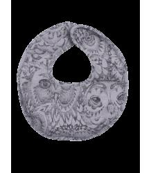 Soft Gallery Bib Aop OWL Grey Soft Gallery Bib grey drizzle owl app