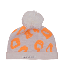 Noé & Zoë Baby Hat with Pompom Noe & Zoe Baby Hat with Pompom orange leo