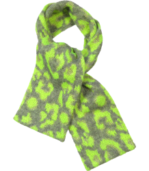 Ute Jungle Scarf Simple Kids Ute Jungle Scarf neon yellow grey