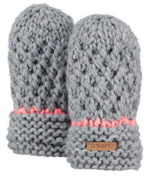 Barts Mily Mitts Barts Mily Mitts heather grey pink