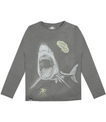 Lion of Leisure T-shirt LS Shark T-shirt LM Shark Steel grey