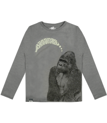 Lion of Leisure T-shirt LS Gorilla Lion of Leisure T-shirt LM Gorilla steel grey