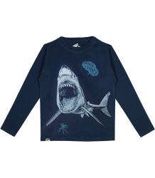 Lion of Leisure T-shirt LS Shark Lion of Leisure T-shirt LM Shark indigo blue