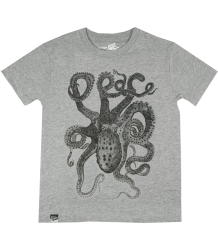 Lion of Leisure T-shirt Octopus Lion of Leisure T-shirt Octopus grey melange