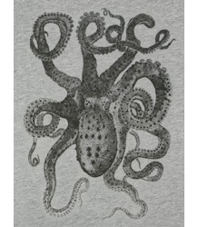 Lion of Leisure T-shirt Octopus Lion of Leisure T-shirt Octopus grey melange