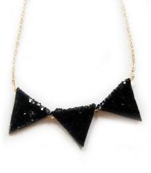 Atsuyo et Akiko Glitter Necklace Atsuyo et Akiko Glitter Necklace black