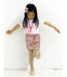 Atsuyo et Akiko Sequin Wrap Skirt with Pompom Atsuyo et Akiko Sequin Wrap Skirt with Pompom