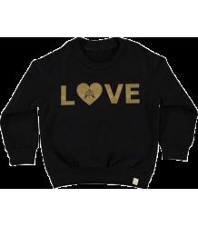 Atsuyo et Akiko Fleece Raglan Pullover Atsuyo et Akiko Fleece Raglan Pullover Black, LOVE