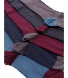 Buisjes & Beugels +++ Plain Tights Buisjes & Beugels Plain Tights Blue petrol with dark red