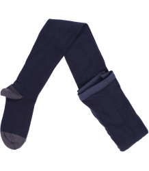 Plain Tights Buisjes & Beugels Plain Tights dark navy with grey