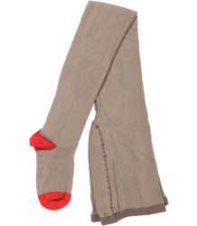 Buisjes & Beugels +++ Plain Tights Buisjes & Beugels Plain Tights sand with red