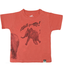 Lion of Leisure Baby T-shirt Elephant Lion of Leisure Baby T-shirt Elephant Spiced coral