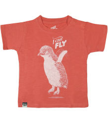 Lion of Leisure Baby T-shirt Penguin Lion of Leisure Baby T-shirt Penguin Spiced coral