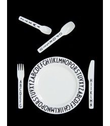 Design Letters ABC Kids Melamine Cutlery Set Design Letters ABC Kids Melamine Cutlery Set