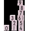 Design Letters AJ Wooden Cubes Design Letters AJ Wooden Cubes pink