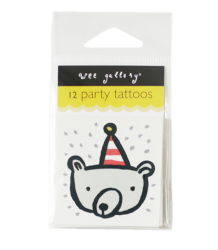 Wee Gallery Temporary Tattoos Set - Party Wee Gallery Temporary Tattoos Set - Party