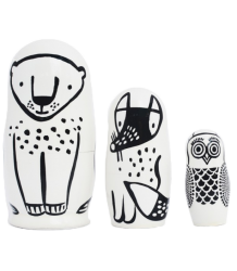 Wee Gallery Set of 3 Nesting Dolls - Forest Friends Set of 3 Nesting Dolls - Forest Friends