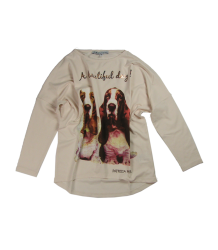 Patrizia Pepe Girls Dog T-shirt Patrizia Pepe Girls Dog T-shirt