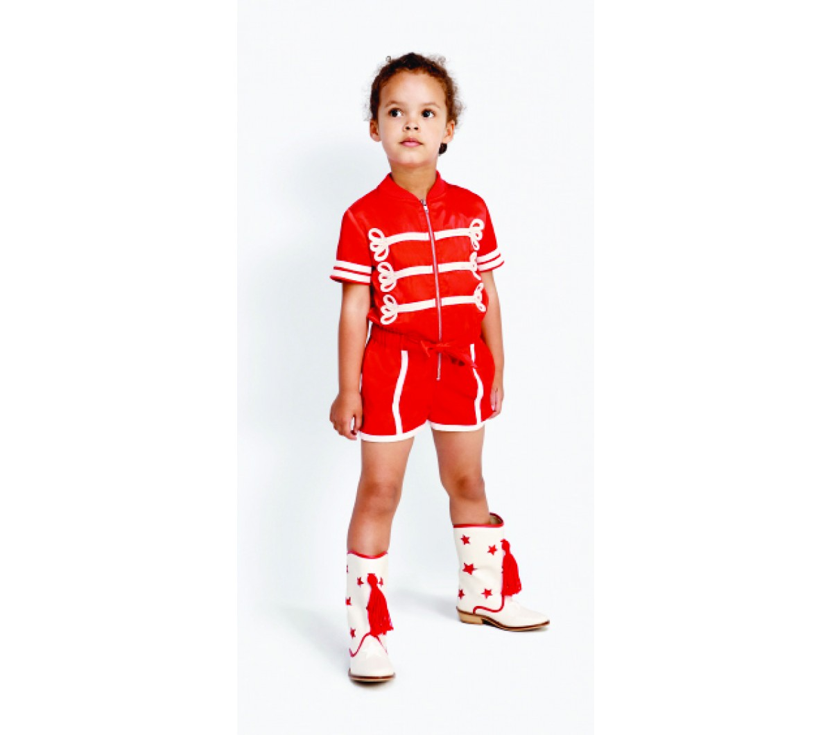 Stella Mccartney Kids Mell Majorette All In One Orange Mayonnai