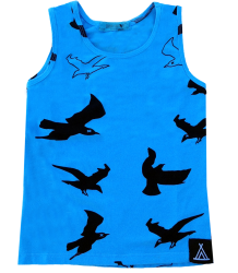 Quinn and Fox Blackbird Blue Tank Quinn and Fox Blackbird Blue Tank