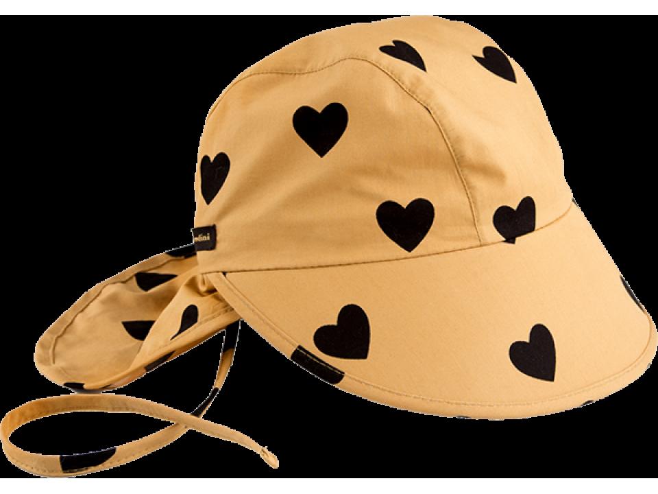 83d184b1082 Mini Rodini Sun Cap AOP Love - Orange Mayonnaise