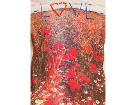 American Outfitters Slub Tee Flower Meadow