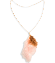 American Outfitters Feather Necklace American Outfitters Feather Necklace Cognac