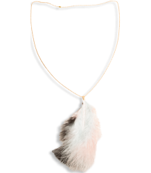 American Outfitters Feather Necklace American Outfitters Feather Necklace baby blue