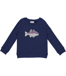 Fish Sweatshirt Simple Kids Fish Sweatshirt Navy