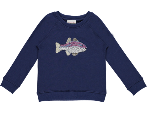 Simple Kids Fish Sweatshirt