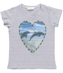 Dolphin Tee Simple Kids Dolphin Tee Stripes