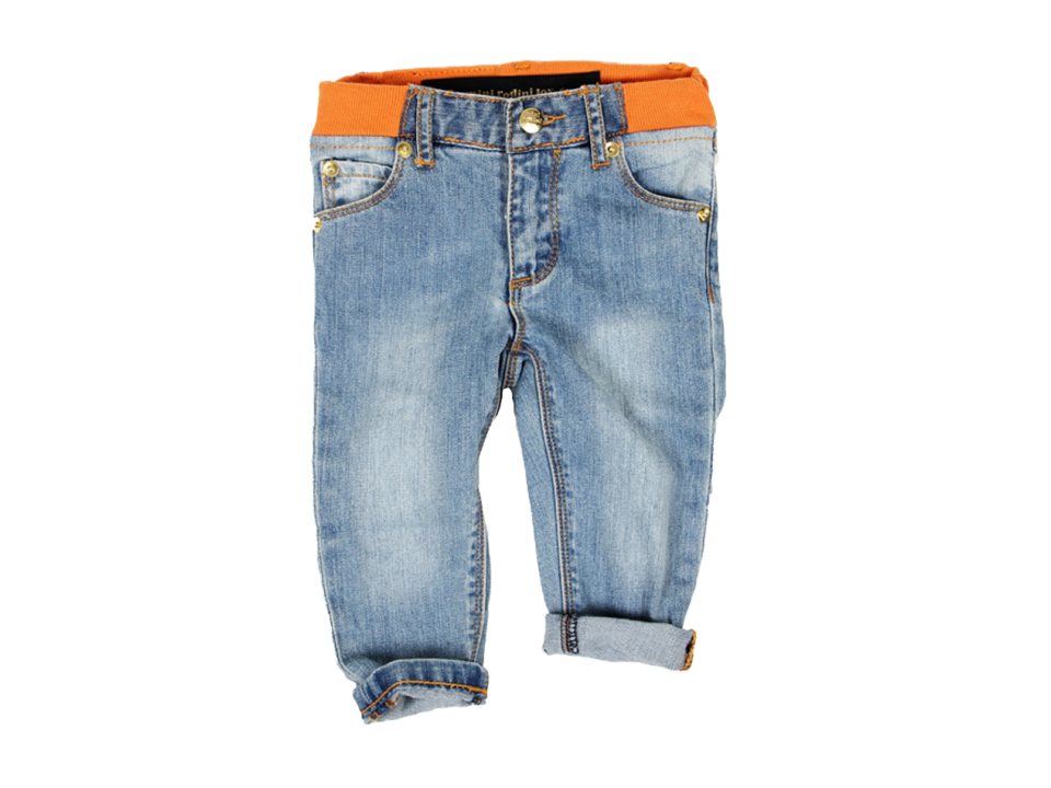 Mini Rodini Berlin Baby Jeans - Orange Mayonnaise