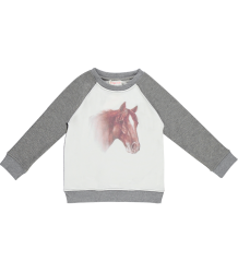 Pony Lurex Sweatshirt Simple Kids Pony Sweatshirt