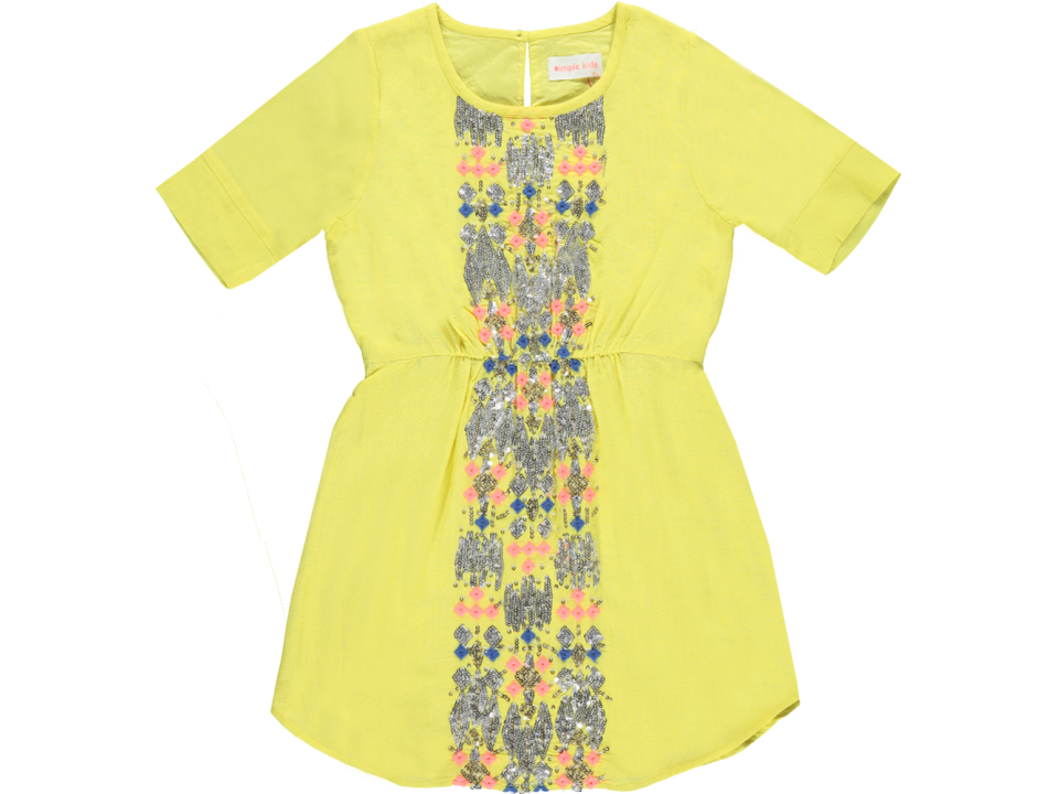 Simple Kids Mimi Dress - Orange Mayonnaise