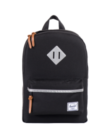 Herschel Heritage Backpack Kid Herschel Heritage Kid Black   3M Rubber