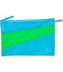 Susan Bijl The New Pouch Susan Bijl The New Pouch RGB POUCH blauw met groen