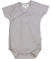Oeuf NYC Kimono Onesie Oeuf NYC Kimono Onesie grey with dot
