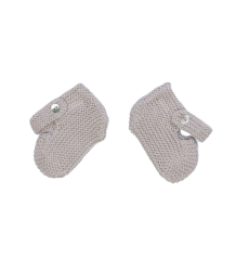Oeuf NYC Mary Janes Oeuf NYC Mary Janes knitted baby booties grey