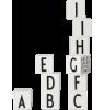 Design Letters AJ Wooden Cubes ABC Design Letters AJ Wooden Cubes ABC white