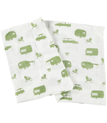Tiny Cottons Swaddle Tiny Cottons Swaddle camping all over print